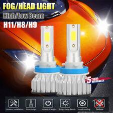 2x CREE H11 H9 H8 LED Headlight Kits Hi/Lo Power 6000K White 2000W 480000LM Bulb