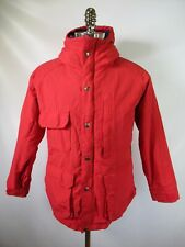 F8350 VTG Woolrich Flannel Lined Hood Mountain Parka Jacket Made in USA Size L