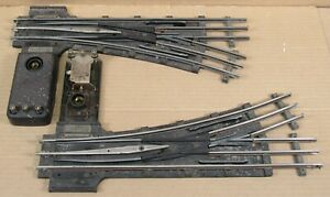Lionel Prewar T-Rail 731 Right/Left-Hand Switch Pair w/Controller AS-IS O-Gauge