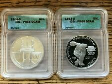 1983-S, 1984-S and 1988-S Olympic Commemorative Coins-PR 68 and 69 DCAM!