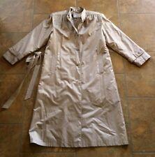 The Legend trench coat long coat jacket women's.  Size 9-10. Tan.        C8