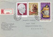 Hungary 1971 Budapest-Chur Registered Cover Vgc