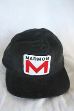 MARMON TRUCKERS CORDEROY HAT WITH PATCH ADJUSTABLE SNAP SIZING COLOR BLACK
