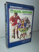 NASL Soccer - Mattel Intellivision Vintage 1979 Video Game w/ Manual 1 Overlay