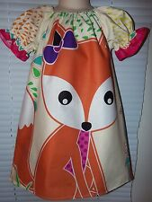 Red Fox Forest Birds /Disney  Dress up Sz. 5t- Ready to ship -22 in length