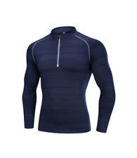 Men Compression Shirt Sport Training Quick Dry Long Sleeve Tight T-Shirt