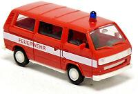 Herpa 4101 VW Volkswagen T3 Bus Feuerwehr neutral rot Modell 1:87 H0