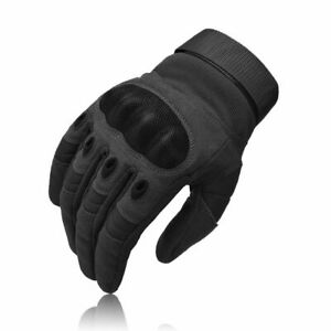 MENS BLACK MILITARY COMBAT TACTICAL GLOVES HARD KNUCKLE ARMY SECURITY POLICE