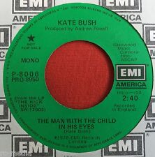 """KATE BUSH -The Man With The Child In His Eyes- USA 'EMI America' Promo 7"""""""