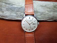 Vintage IWC International Watch Co, Schaffhausen Esfera Plateada Reloj De Hombre Automático