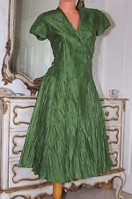 LINEA  100%  silk  with crinkle effect criss cross A line dress size 12