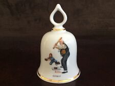 """Batter Up"" Vintage Norman Rockwell Collectible Bell - 1979 Ltd Ed."