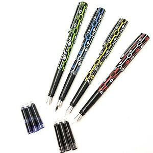 LOFT CLUB Fountain Pen Lightweight Calligraphy Smooth Writing + 6 Ink Cartridges