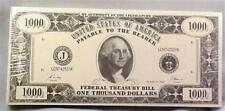 3 Packs One Thousand Dollar Bill Note Paper Money Theme Great Gift