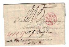 Stampless, EDIMBURG scotland to rivière du loup via Halifax & Quebec 1818