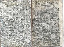 Mügeln Mutzschen Nerchau 1907 orig. Teilkarte/Ln. Wermsdorf Luppa Zschoppach