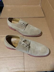 $268! Cole Haan Men's Derby Beige Leather Suede Shoes Size 11.5