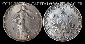 2 Francs 1914 C Castelsarrasin Argent