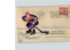 1932 Winter OLYMPICS # 716 Hand Painted Hockey Player, Lake Placid, NY, # 1 of 1