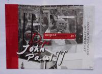 2013 St VINCENT & GRENADINES POPE JOHN-PAUL II BEQUIA STAMP MINI SHEET