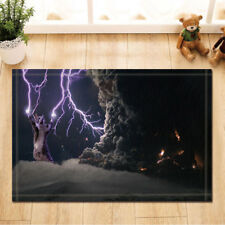 Door Mat Bathroom Rug Bedtoom Carpet Bath Mats Rug Non-Slip Cat and lightning