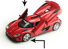 Koenigsegg sports diecast model 1:32 car Toy red Acousto-optic gifts new
