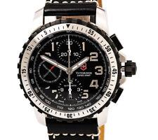 Victorinox 241195 Swiss Army Automati Alpnach Chrono Black Dial & Leather Strap