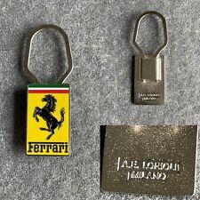 Ferrari A.E. Lorioli Milano 90s Porte clé Keyring Keychain Keyfob Portachiavi