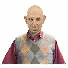 Grumpy Old Man Adult Latex Mask Bald Grandpa Wrinkled Halloween Accessory