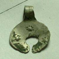 Rare Original Ancient Roman Byzantine applique zodiac lunar moon crescent star