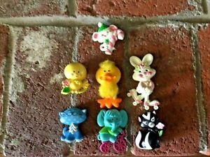 Avon FRAGRANCE GLACE Pin Vintage Lot Of 4 + Avon CHILDS PIN Lot Of 3 1970's
