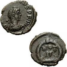 Arcadius 383-408 dc AE 1/2 centenionalis vot V wreath Roman coin Eastern Empire