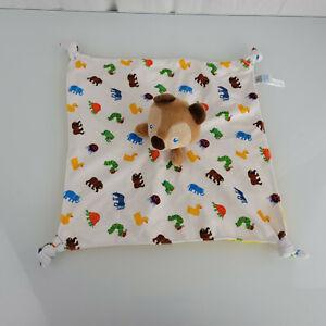 "Eric Carle Brown Bear Security Blanket Lovey 13 X13"" Kids Preferred Satin"