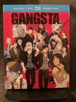 (Blu-ray) GANGSTA.: The Complete Series (2017, 4-Disc Set w/DVD) RARE & OOP