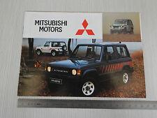 DEPLIANT BROCHURE ORIGINALE PRODUZIONE MITSUBISHI PAJERO 4WD COLT GALANT