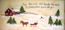 Over the River to Grandmother's house paint  embroidery  pattern