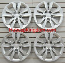 """SET of 4 SILVER 16"""" Hubcaps Wheelcovers Fit 2011-2014 HYUNDAI SONATA Bolt-On"""