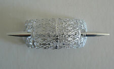 SALE Filigree Vintage Hair Clip Pin West Germany Light Weight Never Worn SilverC