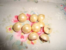 10 Pearly Painted Vintage 1940's Buttons