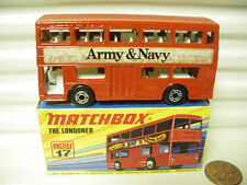 """MATCHBOX MB17B 1972 """"ARMY & NAVY"""" WITH CHARCOAL METAL BASEPLATE MINT BOXED*"""