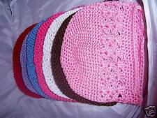 WHOLESALE LOT infant baby crochet KUFI HATS 7 colors