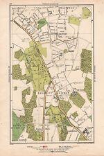 1933 London Map- Bickley,Southborough,Brom ley Common,Locksbottom,Keston