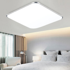 Silber LED Deckenleuchte 12W Kaltweiß Deckenlampe Flur Wohnzimmer Wandlampe Büro
