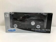 Welly 1953 Chevrolet 3100 Pick Up Truck, Black 1:24 Scale Die Cast Model