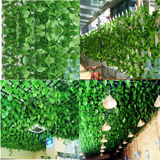 UK 82ft Artificial grape Ivy vine Faux Leaf Garland Plants Fake Foliage Green