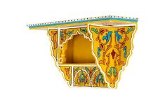 Painted Moroccan shelf, Wall Shelves Floating Shelves Yellow, Floating Shelf