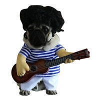 EG_ HK- Funny Pet Guitar Player Dog Costume Dress Up Party Clothes For Puppy Cat