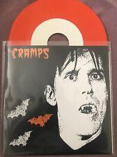"Cramps- Sunglasses After Dark ORANGE VINYL 7"" record Punk Psychobilly Gun Club"