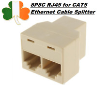 1to2 8P8C RJ45 for CAT5 Ethernet Cable LAN Port 1 to 2 Socket Splitter Connector