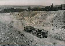 ARPAJON 1955 -Travaux Déviation Route Véhicule Engin de Chantier Essonne- PR 790